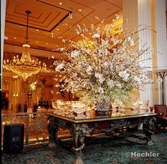Lobby arrangement at the Waldorf Astoria New York