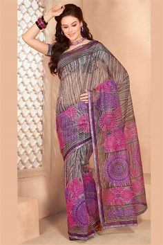 Graceful Casual Wear Printed Cotton Saree with Blouse