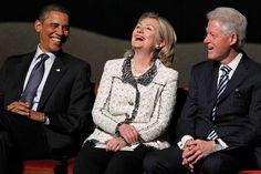 President Obama, SOS Hillary Clinton and former President Bill Clinton.