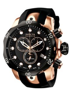 Men's Venom Rose Gold & Black Watch by Invicta Watches. This is a very nice watch