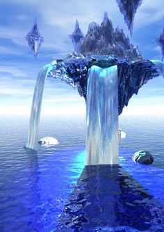 the floating land in ice by ~wolfrain319