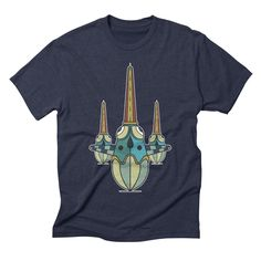 slowdown mens triblend-t-shirt in navy