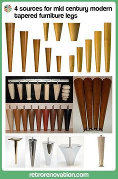 4 sources for mid century modern furniture legs Retro Renovation : Lovely, all the info gathered in one place. There is also a link in this article for sources of hairpin legs. Décoration Mid Century, Mid Century House, Mid Century Design, Mid Century Modern Decor, Mid Century Modern Furniture, Midcentury Modern, Modern Retro, Mid Century Modern Sideboard, Mid Century Dresser