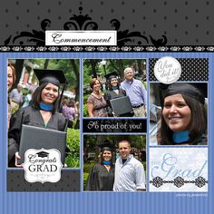 graduation scrapbook layouts | Graduation Word Art Digital Scrapbooking Layout