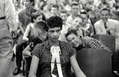 uncommon courage - Dorothy Counts, the first African American girl to attend an all-white school, being taunted by her peers. This girl's strength ... I can't begin to imagine.