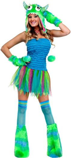 Sexy Green Monster Costume For Women $24 http://www.yandy.com/Monster-Costumes.php