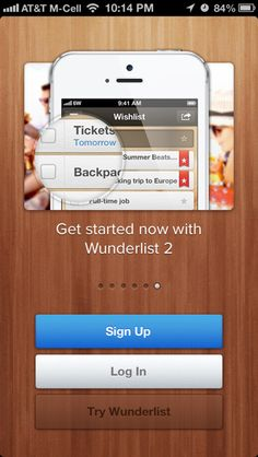 Wunderlist iPhone walkthroughs screenshot