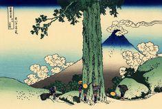 """Mishima Pass in Kai Province"", - Thirty-six Views of Mount Fuji - No.33, by Hokusai (1760–1849)"