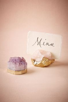 $12 EA I LIKE MINERALS AROUND ME ...THESE SERVE A PURPOSE AS WELL W A 5 X 7 CARD MINI REMIND/TO DO/GROCERY LISTGilded Agate Card Holder from @BHLDN