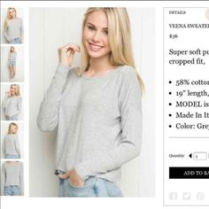 Brandy Melville Veena Sweater Brand new with tags, one size! Brandy Melville Sweaters Crew & Scoop Necks