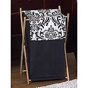 Isabella Black and White Laundry Hamper