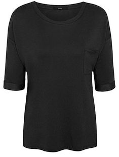 9ab5f34a747 Bulk up your basics with relaxed chic style with this black jersey top.