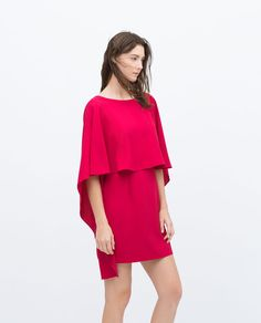 CAPE DRESS WITH LOW BACK-View all-Dresses-WOMAN | ZARA United States