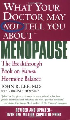 What Your Doctor May Not Tell You About Menopause (TM): The Breakthrough Book on Natural Hormone Balance by John R. Lee