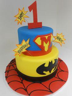 Superhero Birthday Cake (911) by Asweetdesign, via Flickr