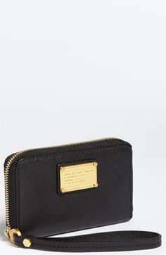 I will have this in my life! MARC BY MARC JACOBS Classic Q - Wingman Phone Wallet | Nordstrom