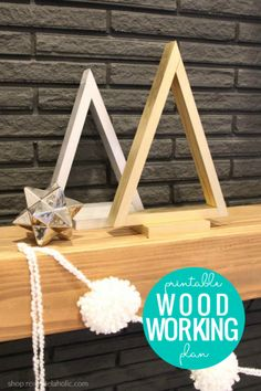 Cool Woodworking Projects, Woodworking Crafts, Woodworking Plans, Wood Projects, Wood Christmas Tree, Simple Christmas, Christmas Nails, Christmas Crafts, Christmas Stage