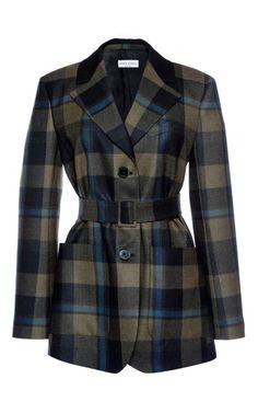 Checked Wool Twill Jacket by Sonia Rykiel for Preorder on Moda Operandi