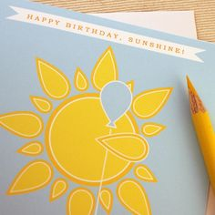 Happy Birthday Sunshine Birthday Card