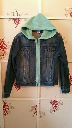 Jeans Jacke mit Sweatkapuze Größe 38 ca. 170