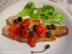 Briciole di Sapori           : Filetto di torsk con pomodorini, olive taggiasche ...