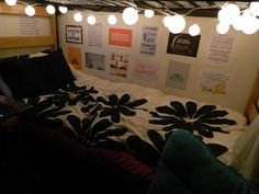 Dorm ideas...for the bottom bunk