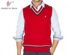 Winter doesn't mean you have to cover up your masculinity just because it's cold. Be loud and proud with this bright red sleeveless sweater.  It's made from pure wool, so it won't bite into your skin. It's an American Swan product, so you know you're buying top quality.This daily deal for the American Swan Woolen Sleeveless Men's Sweater (Red) is available on Bhaap.com for the cheapest price in online shopping India.