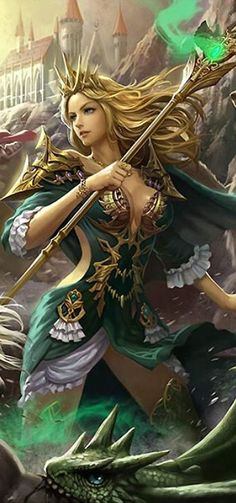 fantasy warrior | Artist: Unknown - Title: Unknown - Card: Beloved Witch Maizy (Protecting)