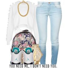 A fashion look from March 2014 featuring The Ragged Priest sweatshirts, Zara jeans and Michael Kors watches. Browse and shop related looks.