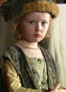 "Princess Elizabeth as played by Kate Duggan  in ""The Tudors"""