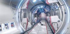 Sci Fi Bright Corridor