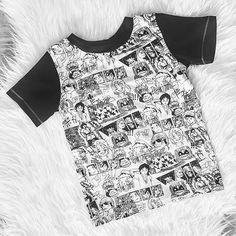 Manga print tee Spring tee Baby tee Spring Tee, Spring Break, Little Man, Handmade Clothes, Printed Tees, Baby Wearing, Kids Outfits, Manga, How To Wear