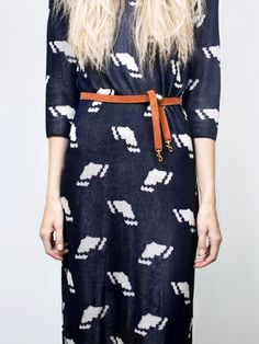 dress & belt, cool print