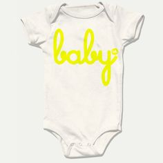 d3f7d042864ca Hello Merch — Neon Organic (Babies) One-Piece with snaps Baby Girl Born