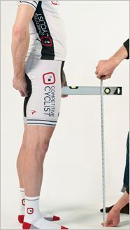 oh, my!  Who knew that this was the way to figure out what size bicycle you are supposed to purchase!