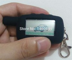 2-way LCD Remote Control Key Fob Chain Keychain with LOGO + Silicone Key Case For Two Way Car Alarm System Starline A9