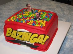 Must remember this for Gino's next birthday! Big Bang cake.