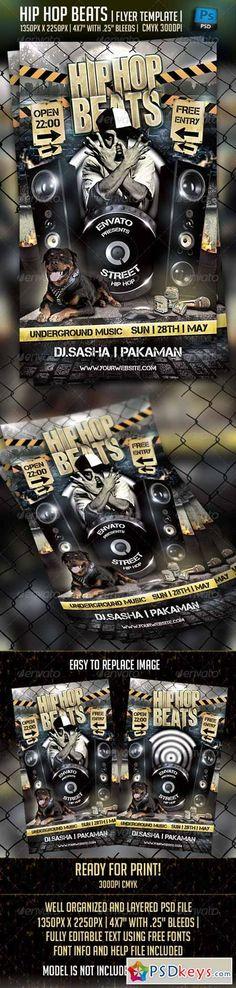 Hip Hop Beats Flyer Template 4220779