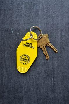 Make Lemonade Key Tag_key ring/when life gives by charlestonandco