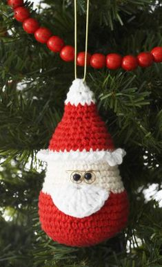 Free Crochet Santa Ornament Pattern