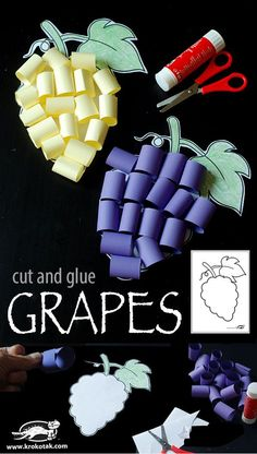 cut and glue GRAPES