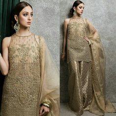 """ZAIB"" Collection of Mughal Bridals. Unique and fabulous Bridal Wear in Neha Rajpoot Photoshoot of #ZaraShahjahanBride!⭐ #Gorgeous #ElegantStyle #ZaraShahjahanOfficial #BridalCouture #ReadyToWear #Formals #LuxuryFashion #GoldShadesTrend #BridalShoot #NehaRajpoot #Perfect #Unique #Inspiration #PakistaniCouture #PakistaniFashion #PakistaniModels #PakistaniCelebrities"