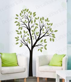 "Wall Art - 80"" Large Tree Removable Wall Decal Vinyl Sticker Home Decor Wall Art. $45.95, via Etsy."