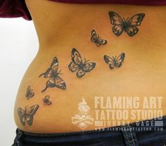 Butterflies on back 2 tattoo - 50+ Amazing Butterfly Tattoo Designs | Art and Design