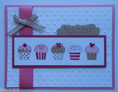 Handmade Cards Birthday Thinking of You **use the long stamp with the pots on it!**