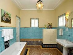 love the bohemian style tilework