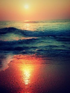 Love watching the sunset over the ocean.