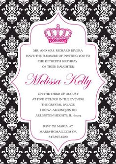 Invitation for a Quinceañera