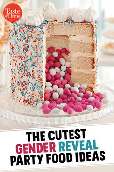 15 Adorable Food Ideas for Anyone Hosting a Gender Reveal Party Gender Reveal Food, Simple Gender Reveal, Baby Gender Reveal Party, Gender Party, Le Genre, Barbie Party, Reveal Parties, Unicorn Party, Food Ideas