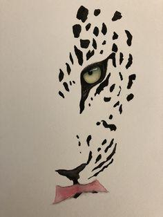 Watercolour painting of leopard Animal Sketches, Art Drawings Sketches, Animal Drawings, Kitten Drawing, Tiger Drawing, Spirit Animal Tattoo, Africa Tattoos, Stippling Art, Octopus Art